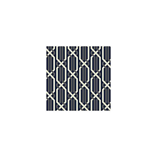 York Wallcoverings EB2019 Cobalt Blues Criss Cross Wallpaper, Blues