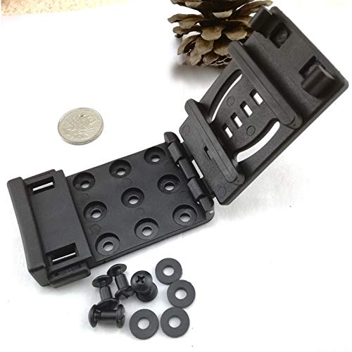 Ochoos HQ SERPA CQC Black Mod-U-Lok Belt Loop Platform with screw For Knife Kydex Sheath Holster DIY tool. - (Size: 2pcs clips 8screws)