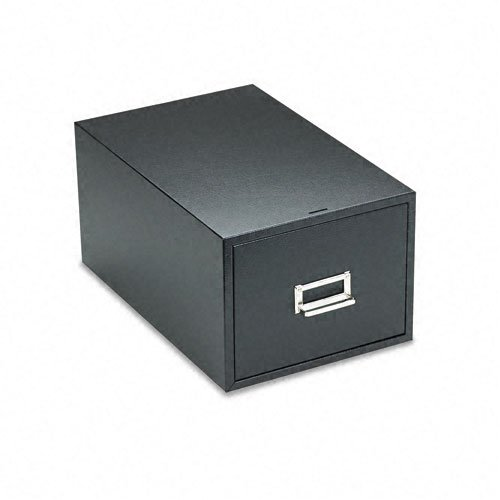 Buddy Products 1 Drawer Card File, Steel, 6 x 9 Inches, Black (1369-4)