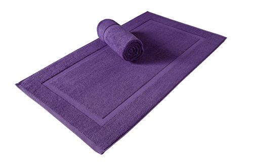 SALBAKOS Luxury Hotel and Spa 100% Turkish Cotton Banded Panel Bath Mat Set 900gsm! 20