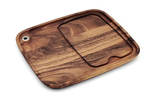 Ironwood Gourmet 28101 Fort Worth Steak Plate, Acacia Wood