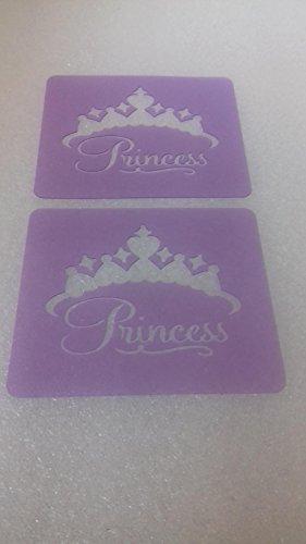 [2 x princess crown face painting stencils reusable many times facepainter tool] (Tattoos Of Princess Crowns)