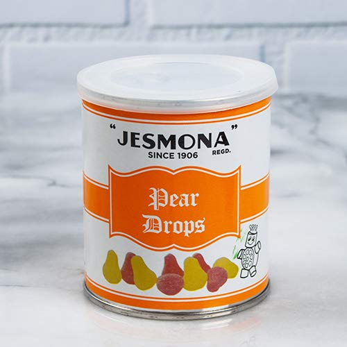 Jesmona Traditional Boiled Sweets in Gift Tin - Pear Drops (8.8 ounce)