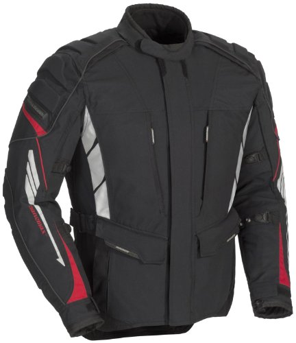 Fieldsheer Adventure Tour Men's Textile Street Motorcycle Jacket - Black / (Adventure Textile Jacket)