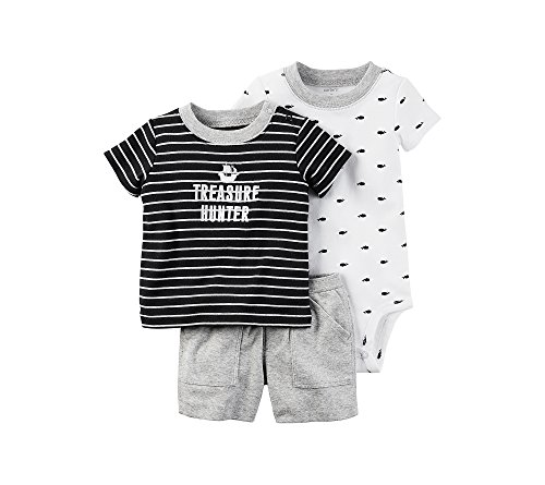 Carter's Baby Boys' 3-Piece Printed Short Set 3 Months (Pirate Clothing For Sale)