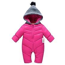 Baby Rompers Winter Jumpsuit Infant Snowsuit Vine Warm Bodysuits Zipper Front