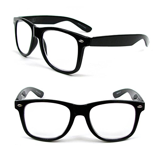 New Large Classic Frame Reading Glasses Nerd Geek Retro Vintage Style - Style Nerd Glasses