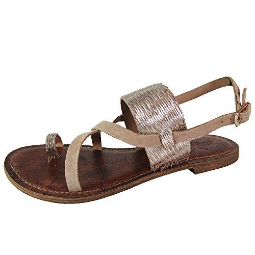 Toe Steven Sandals Open (Freebird by Steven Womens Ocean Leather Open Toe Casual Ankle, Gold, Size 7.0)