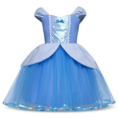 HNXDYY Cinderella Rapunzel Princess Girls Dress Fancy Party