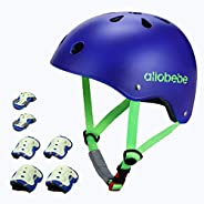allobebe Kids Bike Helmet Toddler Helmet, Sport Protective Gear Set, Adjustable Child Cycling Helmet, Knee Pad