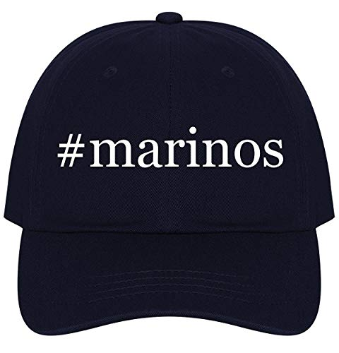 The Town Butler #Marinos - A Nice Comfortable Adjustable Hashtag Dad Hat Cap, Navy