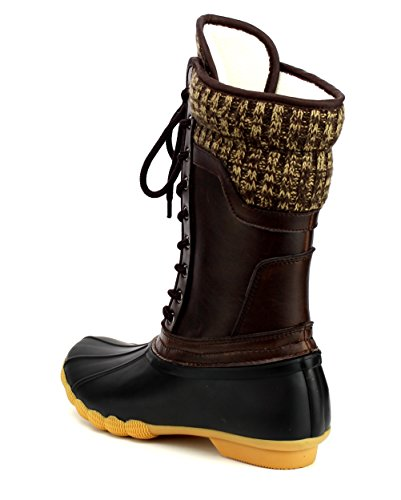 Duck Skimmers Rain Black Refresh Brown Boots Hunter 07 Women's Rubber Waterproof W7CCn0Bfqw
