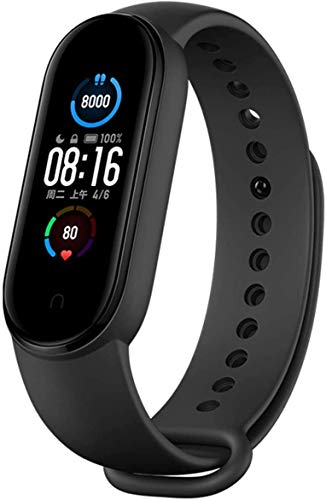 Xiaomi Nieuwe band 5 hartslagmeter, slaapmonitoring, 11 trainingsmodi, 50 meter waterdicht, zwart