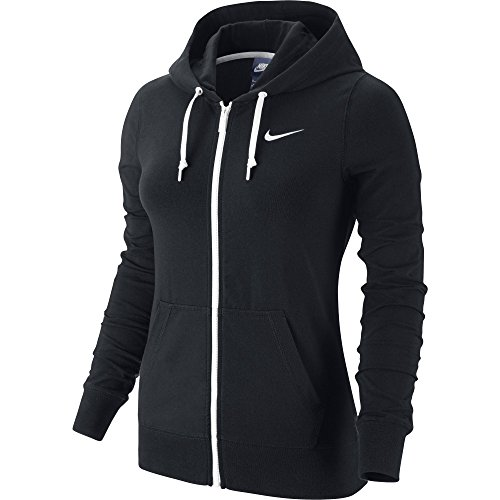 New Nike Women's Jersey Full-Zip Hoodie Black/White X-Large