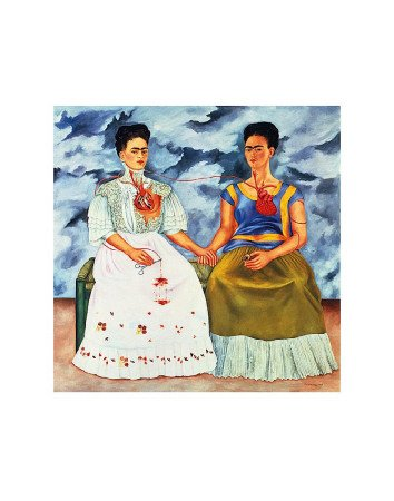 The Two Fridas, 1939 - Poster Print by Frida Kahlo (Overall Size: 11x14)  (Image Size: 8x8)