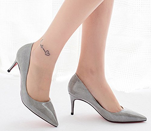 Gris Escarpins Mode Printemps Aisun heel Femme Kitten Bout Pointu 4n87q65