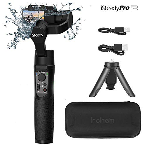 Hohem GoPro Gimbal Handheld Stabilizer for Action Camera Gimble for DJI Osmo Action,GoPro Hero 7/6/5/4/3,SJCam,YI 4K Action Camera (iSteady Pro2 2019 New Model)