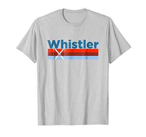 Whistler Snow - Mens Retro Snow Ski - Whistler BC, Canada T Shirt Large Silver