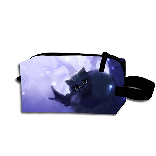 Multi-functional Small Hand-Held Pencil Bag Coin Purse Storage Travel Cosmetic Bag (Cheshire Cat)