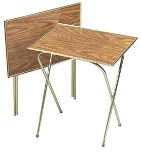 "Quaker Tray Table Honey Oak 21"" X 15"" Oak Laminated Tops (2 Pack)"