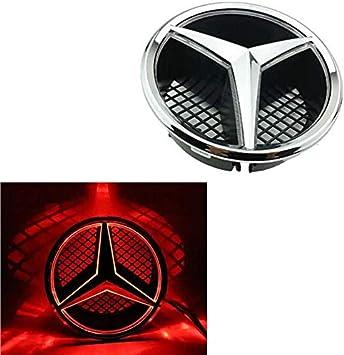 Logo Lumineux LED Embl/ème pour Mercedes Benz C//GLK//B Class Et Plus Front Center Car Grille /Épinglette