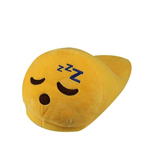 Lath.Pin - Pantuflas Kigurumi de peluche Emoji unisex para adulto, zapatos de Cosplay, disfraz para Halloween Sonno