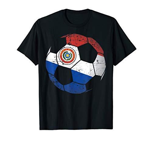 Paraguay Soccer Ball Flag Jersey Shirt - Paraguay Football ()