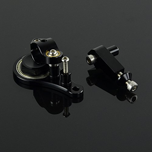 Motorrad CNC Einstellbare Lenkungsd/ämpfer /& Halterung Mounting Kit F/ür Kawasaki Z1000 Z750 03-09
