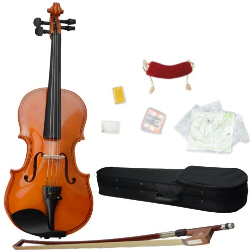 1/8 Acoustic Violin Solid Wood Violin with Hard Case, Shoulder Rest,Electronic Tuner, Bow, Rosin and Extra Strings (1/8) by Z ZTDM