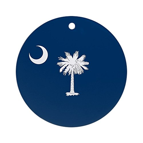 CafePress SC Palmetto Moon Ornament (Round) Round Holiday Christmas Ornament