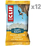 CLIF BAR - Sweet & Salty Energy Bar - Peanut Butter & Honey with Sea Salt - (2.4 Ounce Protein Bar, 12 Count)
