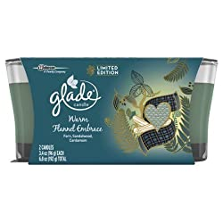 Glade Glade Jar Candle Air Freshener, Warm Flannel Embrace, 2 Candles, 6.8 Ounce, 6.8 Ounce