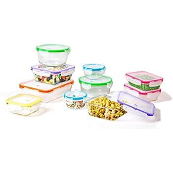 Amazoncom 20 Piece Set Glass Food Storage and Meal Prep