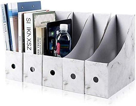 AGWa Desk File Organizer, Dateimagazinhalter Karton Magazin Bücherregal, Hebel Arch Dateiordner Teiler Dokument Briefpapier Aufbewahrungsbox 5Pcs / Pack, Weiß, Schwarz, Schwarz,Orange