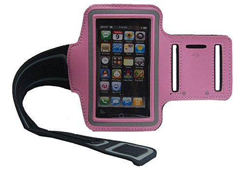 Waterproof iPhone 5 5S 4 4S Sport Armband Gym Case Cover Pouch Belt - 9 Colors (Pink)