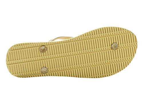 Flip-flop Per Le Donne - Stuoia Di Yoga Materiale Eva Sandali Per Gli Scivoli Di Sicurezza Per La Spiaggia Ampia Antiscivolo E Resistenti (us10, Giallo Estivo)