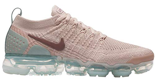 Price comparison product image NIKE Womens Air Vapormax Flyknit 2 Particle Beige / Smokey Mauve-MICA Green Size 7.5