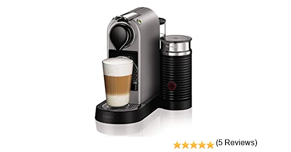 Nespresso Krups Citiz XN760B - Cafetera monodosis de cápsulas Nespresso con aeroccino, compacta, 19 bares, apagado ...