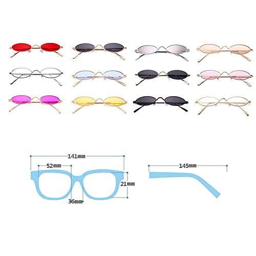 ovales gafas en sol retro estrechas forma C12 de de gafas HuicaiCápsula sol de unisex tPnxUfwnq