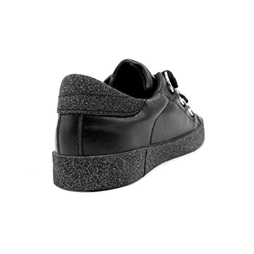 Femme Glitter Tennis Anneaux Strass Angkorly Chaussure Mode Plat Cm 2 Noir Talon Baskets Confortable 8t8wXYq