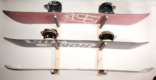 Used, Snowboard Wall Rack Mount - Holds 3 Boards for sale  Delivered anywhere in USA