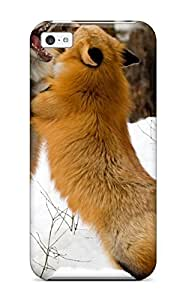 6558824K90946957 High Quality Red Foxes Montana Skin Case Cover Specially Designed For ipod - touch4