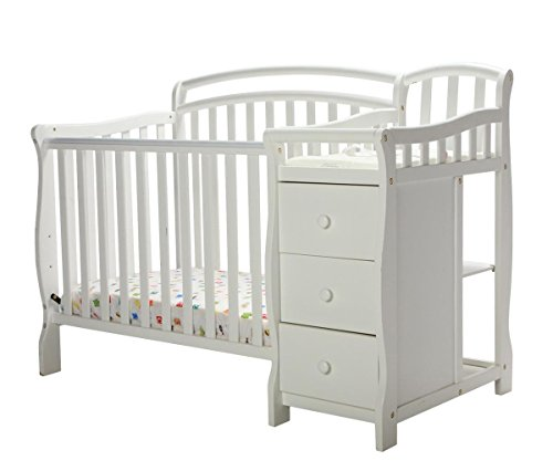 Dream On Me Casco 3 in 1 Mini Crib and Dressing Table Combo (Crib Changing Table Combo)