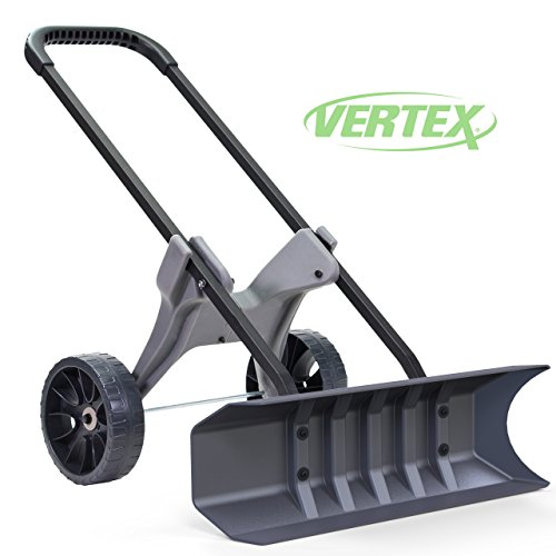 Power Dynamics 30 Inch SnoDozer Rolling Snow Shovel on Wheels - Made in USA Foldable for Easy Storage Ergonomic Snow Removal Plow with Heavy Duty Tires by Vertex