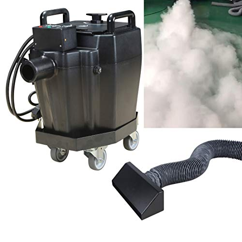 MOKA SFX 2000w Dry Ice Fog Machine with Smoke Nozzle DiversionTube Moveable Cart Stage Special Effect for Stage Wedding Club Party (2000w-1pcs)