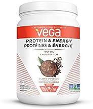 Vega Protein & Energy Chocolate - Plant Based Vegan Protein Powder With MCT Oil, Keto-Friendly, Gluten Fre