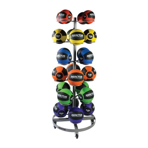 Champion Barbell 6-Tier Rolling Medicine Ball Rack