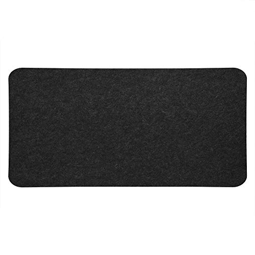Richer-R Mouse Pad, 68x33cm Felts Table Mouse Pad Office Desk Laptop Mat Anti-Static Computer PC Pads with Good Insulation, Excellent Shock Absorption and Easy to Fold for Storage(Dark Grey)