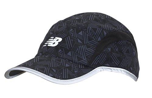 Print Athletic Hat - New Balance 5 Panel Performance Hat, One Size, Geo Stripe Print