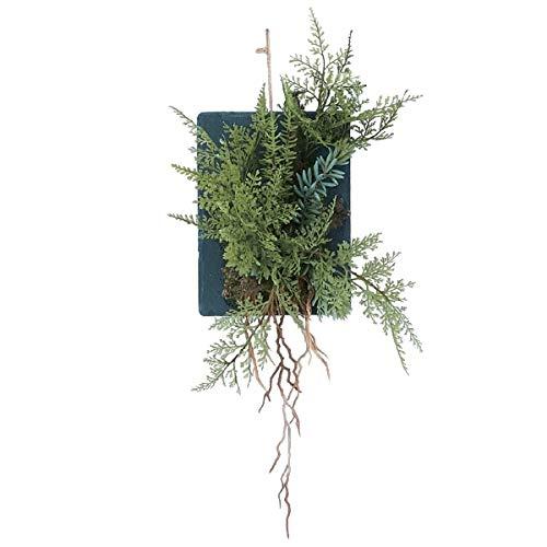 人工観葉植物 ファーンウォールハンギングストレート20(4個セット) bb280 壁掛けタイプ (代引き不可) インテリアグリーン 造花 HANGING B07SYHMHVY